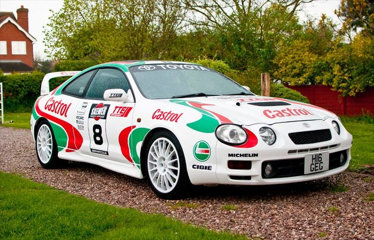 6. 1995 Toyota Celica GT-Four ST205.    This is how it looks today, with a Castrol rally livery applied.