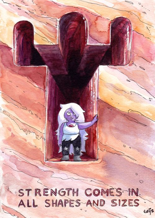 The front of a birthday card I made for a dear friend of mine. A true Steven Universe fan, of course. :) Made with pen and watercolour.