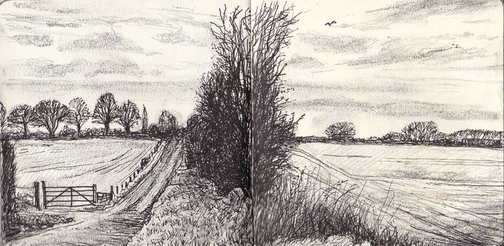 Lane going south, Ipsden, Oxfordshire