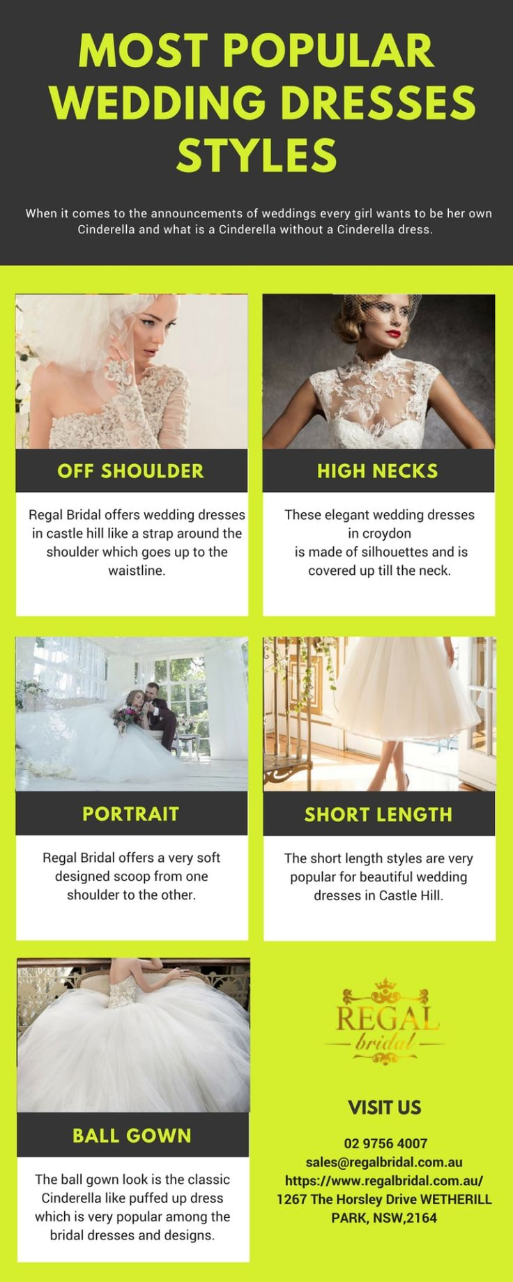 Popular Wedding Dresses Styles- Regal Bridal Regal Bridal brings a very elegant and spellbinding range of #weddingdresses. We have a collection of #weddinggowns and dresses that will make your day even more special.