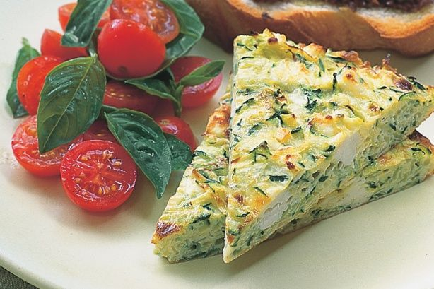 Zucchini & Ricotta Frittata - Looking for a low-fat, healthy dinner? Look no further - this vegetarian frittata fits the bill!