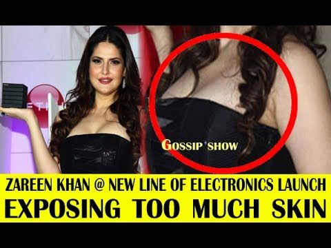 Zareen Khan Exposing TOO MUCH at New Line Electronics Launch.