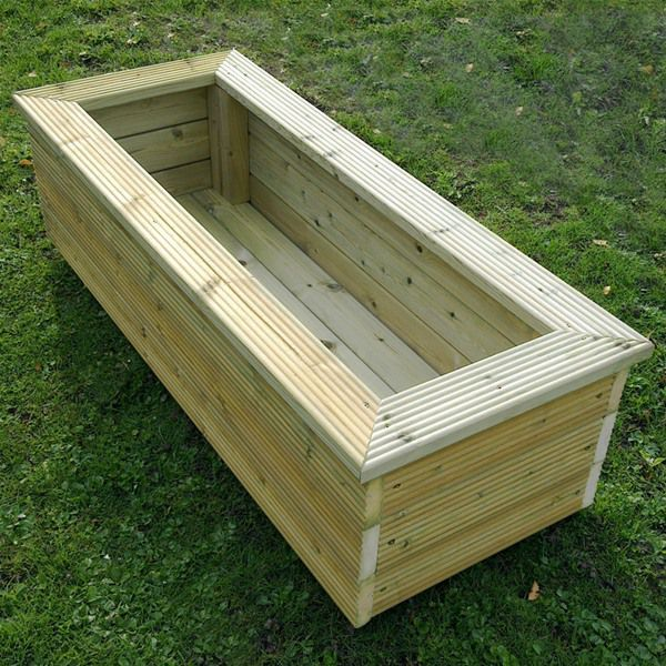 trough style planter ignore the ridged boards projects. Black Bedroom Furniture Sets. Home Design Ideas