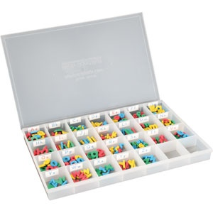 Multicolored Foam Magnetic Letters