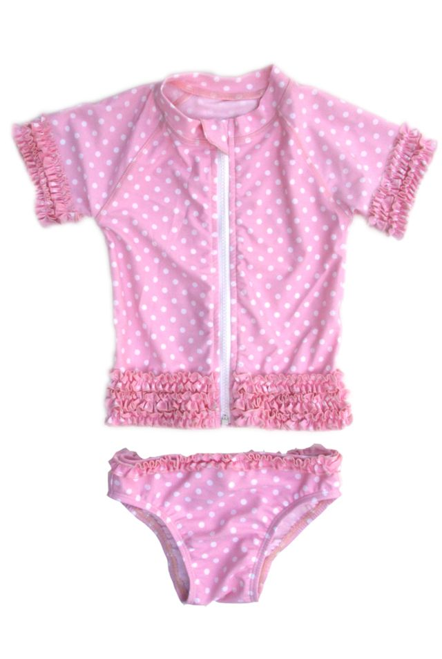 Swimzip pink ruffle swimwear for girls