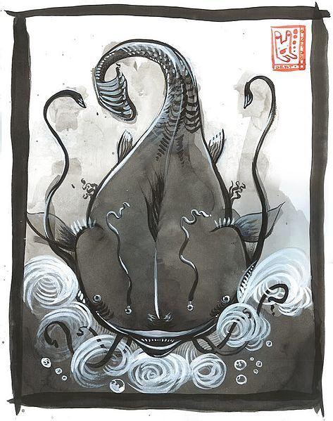 Namazu/Catfish (Japanese) http://en.wikipedia.org/wiki/Namazu_(Japanese_mythology)