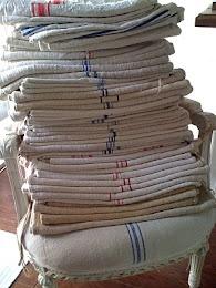 sacs à grain: Crisp Linens, Vintage Grainsacks, Grains Sacks, French Decor, French Vintage, Vintage Linens, French Grains, Feeding Sacks, Linens Closet