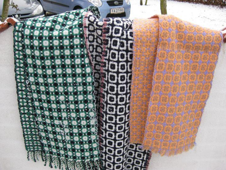 Tørklæder i Deflected doubleweave