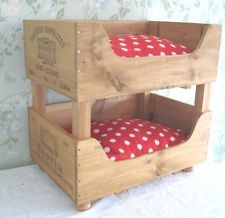 wooden crate cat bunk beds..... would this make me a crazy cat lady?