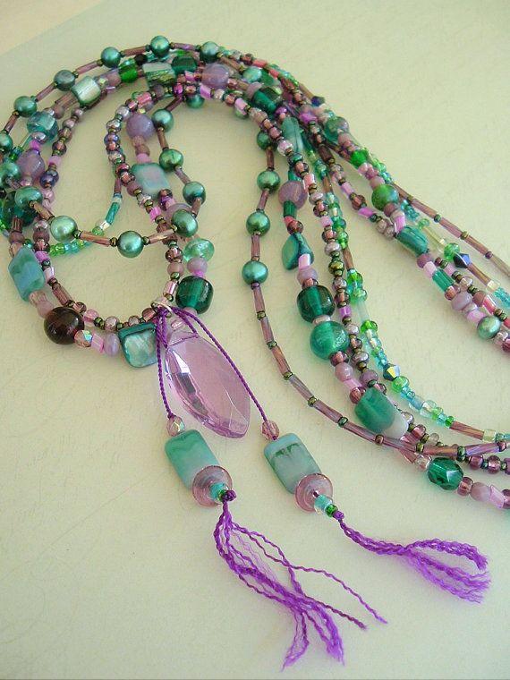 Items similar to Boho collar, joyería de sudoeste, estilo bohemio, gitano de joyas, collar de capas on Etsy