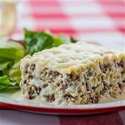 Creamy White Chicken and Artichoke Lasagne Allrecipes.com