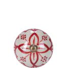 Möbelknöpfe-BUTLERS Möbelknopf Ornament rot