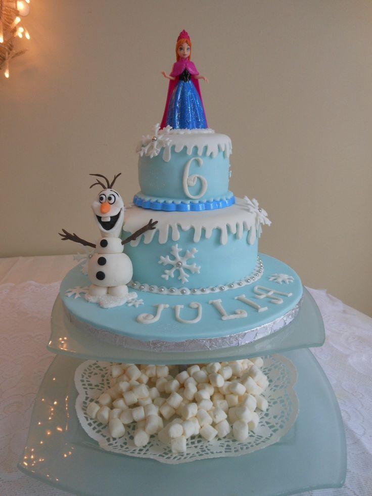 Anna Cake For A And Elsa Cake For E Birthday Girl