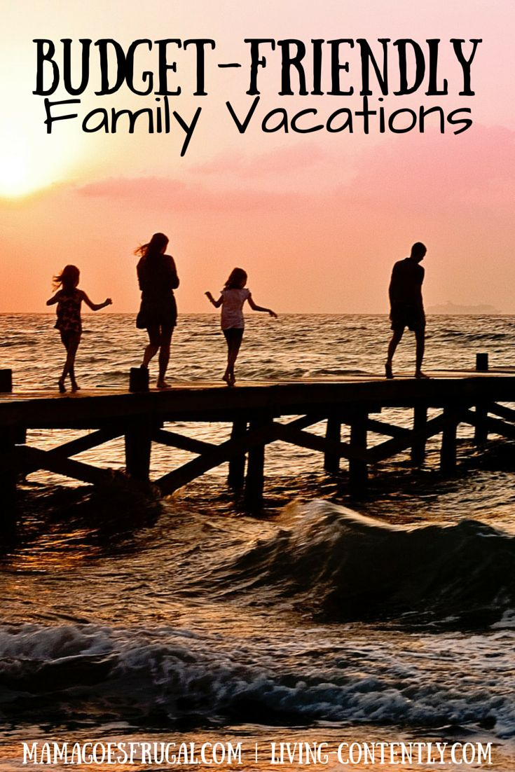 6 fun ideas for a budget-friendly family vacation. Money or time ruining your vacation? Enjoy one of these family vacation ideas and save on time and money!