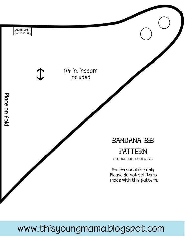 Bandana Bib Pattern by thisyoungmama.com