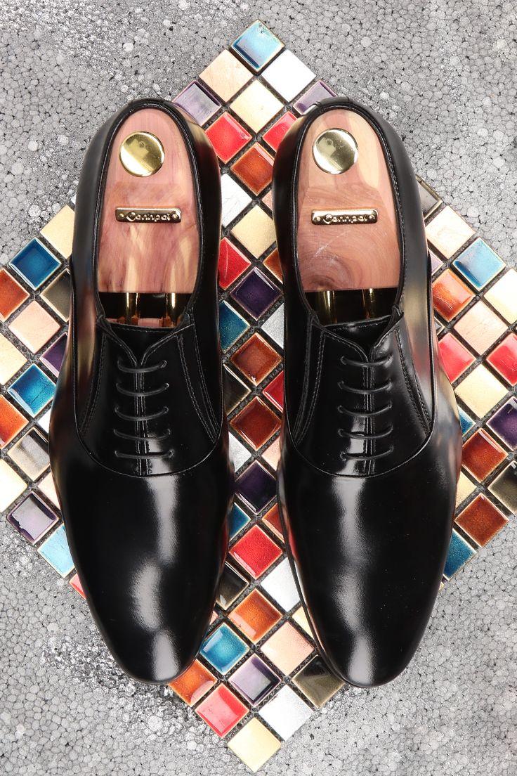 Polbuty Meskie Skorzane Czarne Kevin Ce6098 02 Dress Shoes Men Oxford Shoes Men Dress