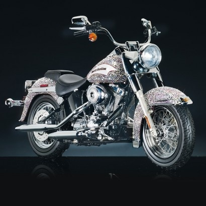 The 2006 HD Softail Classic with Swarovski Crystals :)