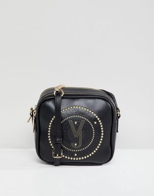 db3a99031a80 Versace Jeans embossed logo crossbody bag