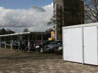 Falco fietsparkeervoorzieningen voor gezondheidspark de Eik