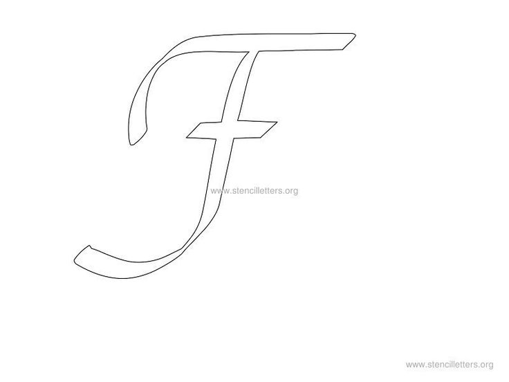 cursive wall stencil letter f zentangle letter stencils cursive stencils. Black Bedroom Furniture Sets. Home Design Ideas