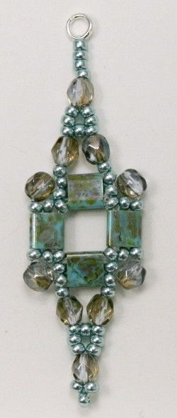 Deb Roberti's Tila Squared Earrings - This is a great pattern for left over Tila's