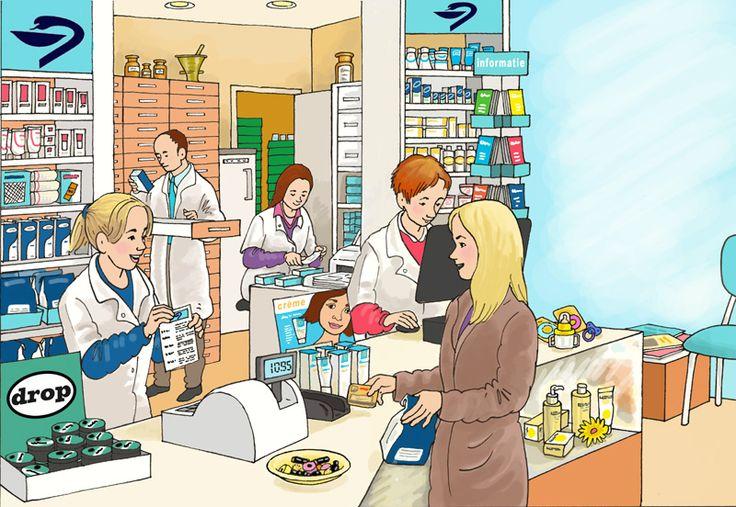 Praatplaat: in de apotheek