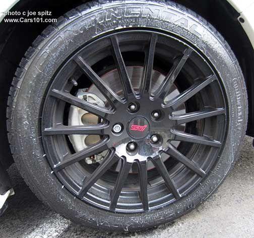 """2015 WRX optional 17"""" STI black alloy wheel"""