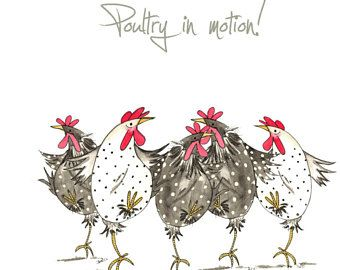 Dare To Be Different Greeting Card – Funny Chicken Card, Friendship, Hens