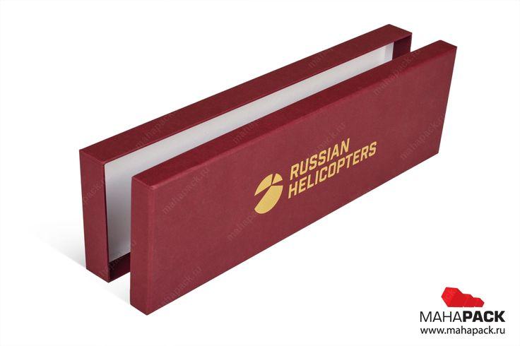 Кашированная коробка крышка-дно для сувенира под заказ