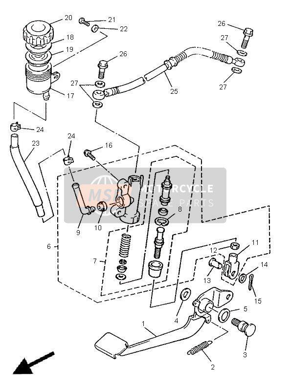 REAR MASTER CYLINDER for 1998 Yamaha XJ600S DIVERSION