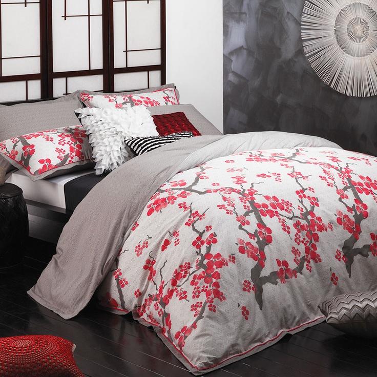 Sakura Red Quilt Cover