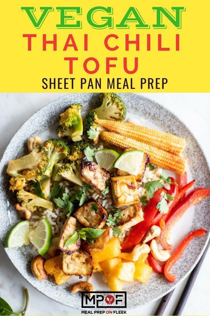 Thai Chili Tofu Sheet Pan Meal Prep