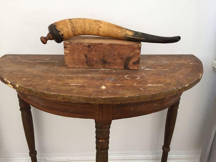 Victorian /Antique/gun/powder/gunpowder horn/gunpowder/horn/Sweden/primitive by WifinpoofVintage on Etsy