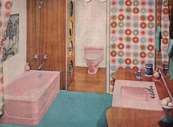 Retro Pink Bathroom Part 70