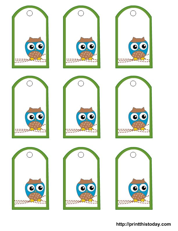 Free Owl Baby Shower Favor Tags Templates | Print This Today