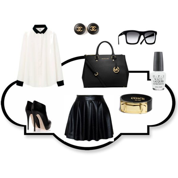 """""""Black and White"""" by universeofbeauty on Polyvore"""