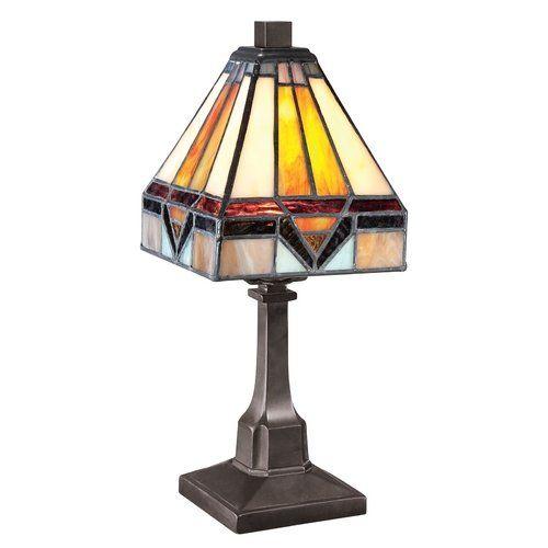 Quoizel TF1021TVB Holmes Mini 1 Light Tiffany Table Lamp Quoizel,http://www