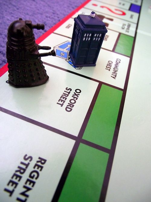 Doctor Who Monopoly! I adore both. :)