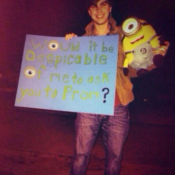 143 best prom images on pinterest dance proposal prom posals despicable me proposal ccuart Images