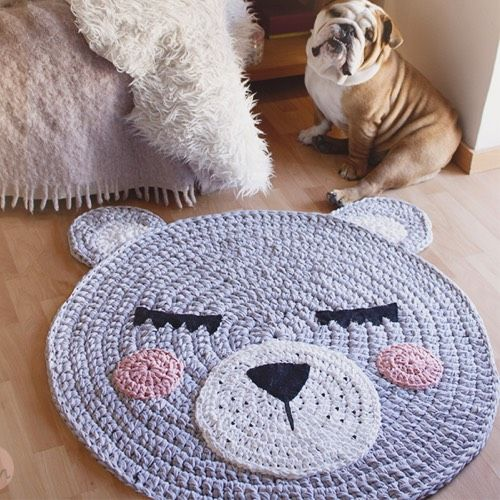 61 best alfombras images on pinterest rag rugs crochet rugs and crochet thread patterns - Alfombras de crochet ...