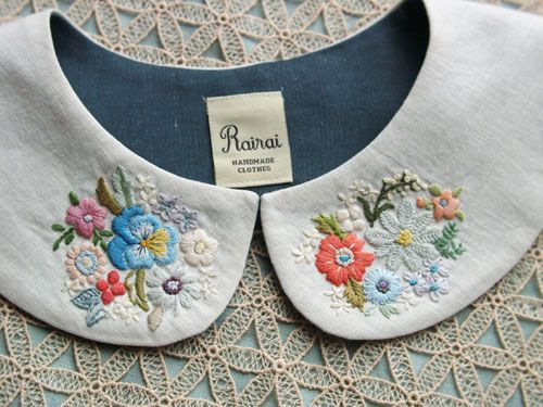 Cute stitched collars.