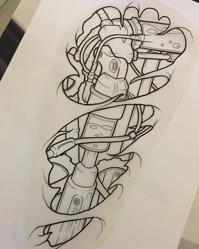 Biomechanical Tattoo Line Drawing : Best tattoo biotech biomechanik biomech images on