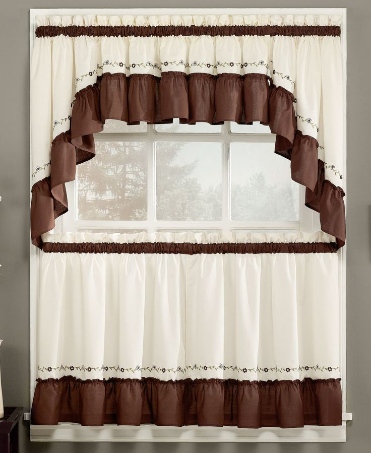 A trail of delicate buds and a playful ruffled hem embellish this Jayden valance from Chf for a classically charming look. | Polyester/cotton | Machine washable | Imported | Valance is sold individual