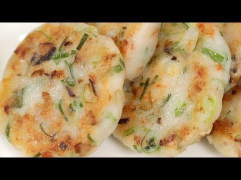 Easy Fried Daikon Mochi (Chinese Turnip Cake Recipe) | Cooking with Dog - YouTube