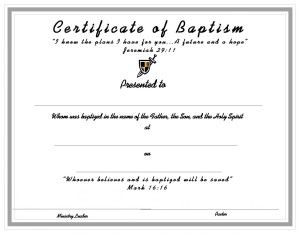 church certificates templates