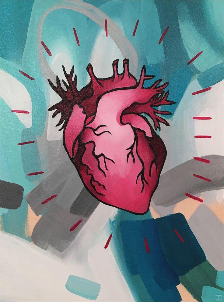JENNIFER CLARK - Full Heart, 2016 12˝ × 9˝ Acrylic on Panel