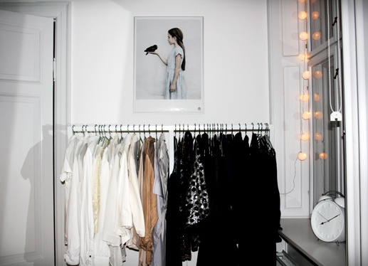 i want a clothing rack for my bedroom and fairy lights ...