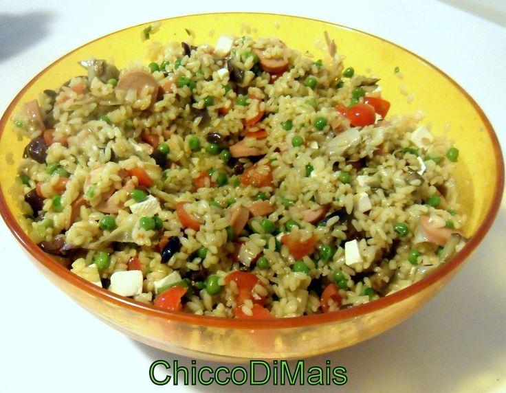 Insalata di riso allo zafferano  http://blog.giallozafferano.it/ilchiccodimais/insalata-di-riso-allo-zafferano/