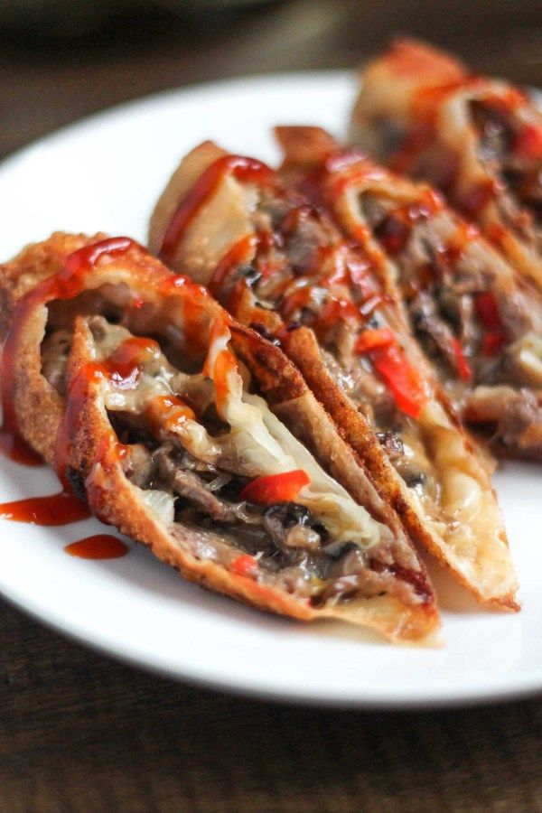 Cheesesteak Eggrolls (inspired by Del Frisco's) - thekittchen