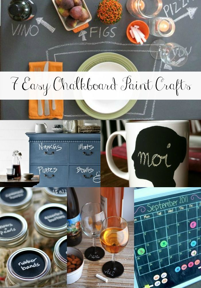 7 Easy Chalkboard Paint Crafts from MomAdvice.com.